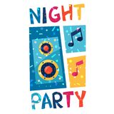 Celebration party poster with shiny confetti Stock Images