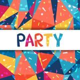 Celebration party poster with shiny confetti Royalty Free Stock Photography