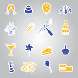 Celebration and party stickers set eps10 Royalty Free Stock Photography