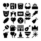 Celebration and Party Vector Icons 8 Royalty Free Stock Image
