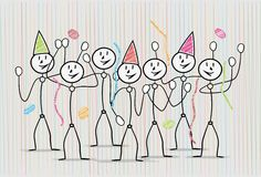 Celebration with people Royalty Free Stock Image