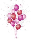 Celebration pink balloons Royalty Free Stock Image