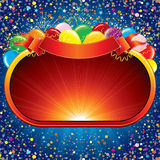 Celebration Poster. Celebration Background, template ready for your own festive design or text Stock Image