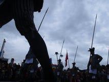 The celebration procession sekaten yogya 2017. The procession of sacred celebration in the northern square of Yogyakarta to Gedhe Kauman Mosque Yogyakarta Royalty Free Stock Photo