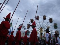 The celebration procession sekaten yogya 2017. The procession of sacred celebration in the northern square of Yogyakarta to Gedhe Kauman Mosque Yogyakarta Stock Photo