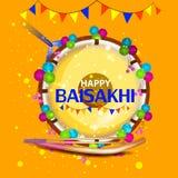 Celebration of Punjabi festival Baisakhi background Royalty Free Stock Images