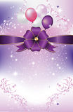 Celebration purple pink background, also for print Stock Photos