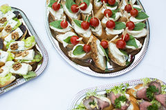 Celebration savory deli food royalty free stock images