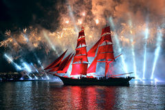 Free Celebration Scarlet Sails Show During The White Nights Festival Stock Image - 56558821