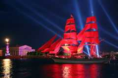 Free Celebration Scarlet Sails Show During The White Nights Festival Stock Photos - 56559153