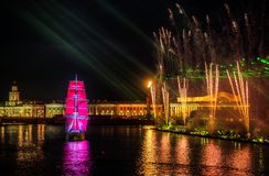 Free Celebration Scarlet Sails Show During The White Nights Festival, Stock Photo - 63507270