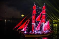 Celebration Scarlet Sails show Royalty Free Stock Images
