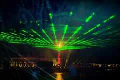 Celebration Scarlet Sails show during the White Nights Festival, Royalty Free Stock Photos