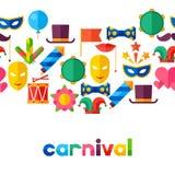 Celebration seamless pattern with carnival flat Stock Photography