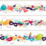 Celebration seamless pattern with carnival icons Stock Photo