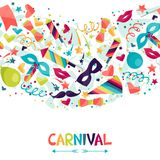 Celebration seamless pattern with carnival icons Royalty Free Stock Photo