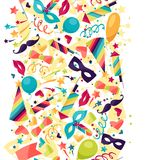 Celebration seamless pattern with carnival icons Royalty Free Stock Photography