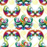 Celebration seamless pattern with carnival icons and objects. Seamless carnival masks pattern  on white background Stock Photo