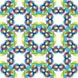 Celebration seamless pattern with carnival icons and objects. Seamless carnival masks pattern  on white background Stock Images