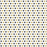 Celebration seamless pattern with gold hearts Royalty Free Stock Images