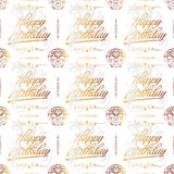 Celebration Seamless Vintage Background. Can be used as textile, fabric or wrapping paper Stock Image