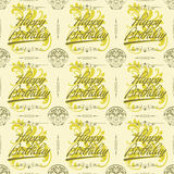 Celebration Seamless Vintage Green Background. Can be used as textile, fabric or wrapping paper Stock Photography