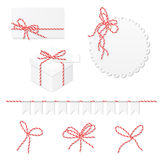 Celebration set with bakers twine bows Stock Images