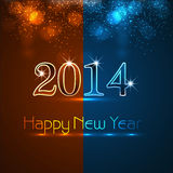 Celebration shiny for new year 2014 colorful. Background Stock Illustration