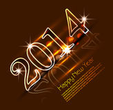 Celebration shiny for 2014 new year holiday backgr. Ound Royalty Free Stock Image