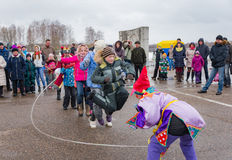 The celebration of Shrovetide in Borodino Museum on March 13, 2016 Royalty Free Stock Photography