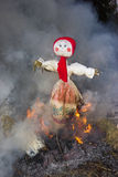 Celebration of Shrovetide - traditional russian holiday. Stock Photography