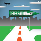 Celebration signpost Royalty Free Stock Photos