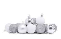 Celebration silver christmas ball for decoration Royalty Free Stock Photography