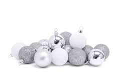 Celebration silver christmas ball for decoration Royalty Free Stock Image