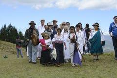 The celebration of the solstice, holiday Inti Raymi. Royalty Free Stock Photos