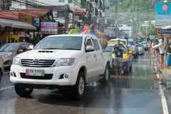 Celebration of Songkran Festival, the Thai New Year on Phuket Royalty Free Stock Photos