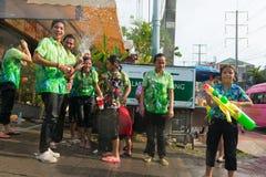 Celebration of Songkran Festival, the Thai New Year on Phuket Royalty Free Stock Image