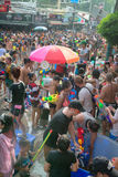 Celebration of Songkran Festival, the Thai New Year on Phuket Stock Photos