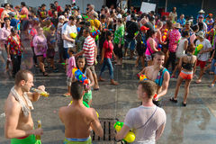 Celebration of Songkran Festival, the Thai New Year on Phuket Royalty Free Stock Images