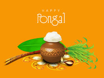 Celebration of South Indian festival, Happy Pongal. Royalty Free Stock Photos