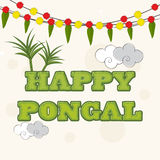 Celebration of South Indian festival, Happy Pongal. Royalty Free Stock Images