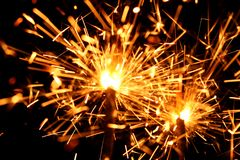 Celebration sparklers Royalty Free Stock Images