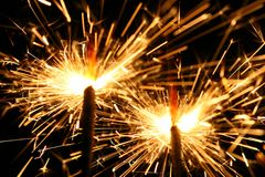 Celebration sparklers Stock Photo