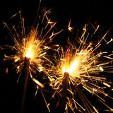 Celebration sparklers Stock Images