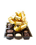 Celebration of a special day with fine chocolates Royalty Free Stock Photography
