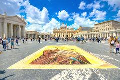 Celebration of St. Peter and St. Paul on St. Peter`s Square in R Royalty Free Stock Images