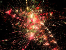 Celebration Starburst. A star-shaped explosion of reds, yellows, pinks and green Royalty Free Stock Photo