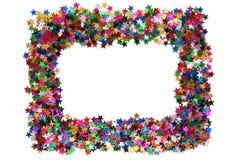 Celebration stars frame stock images