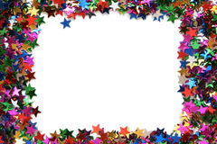 Celebration stars frame. On a white background Stock Photography