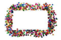 Celebration stars frame Stock Photo